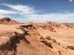Flaming cliff dans le désert de Gobi