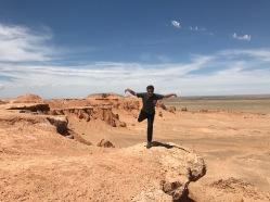 Pose dino en plein désert de Gobi
