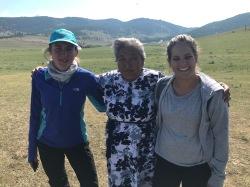Mamie dans les steppes mongoles