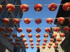 Des lanternes rouges rue Quianmen a Pékin