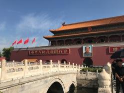 L'entrée de la Cité Interdite avec Mao