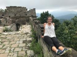 Une partie de la muraille de Chine en ruine