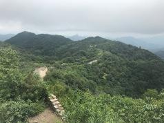 Magnifique paysage de la partie sauvage de Mutianyu