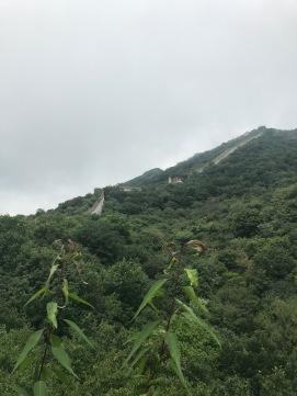 Vue de la montée de la Muraille de Chine