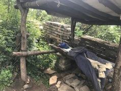 Lit d'un vendeur en haut de la muraille de Chine
