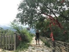 Arbre de voeux tout en haut de la Grande Muraille de Chine