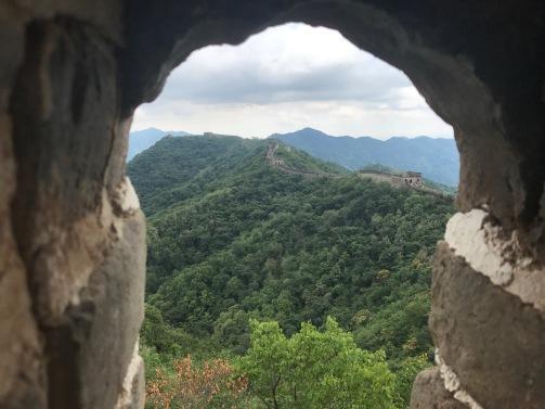 Une fenetre sur la Grande Muraille de Chine