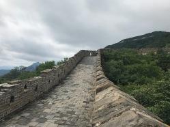 La muraille de Chine sous les nuages