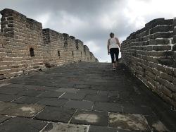 Marche intense sur Mutianyu muraille de Chine