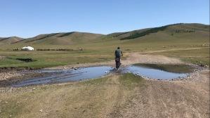 Yourte et velos en Arkhangai en Mongolie