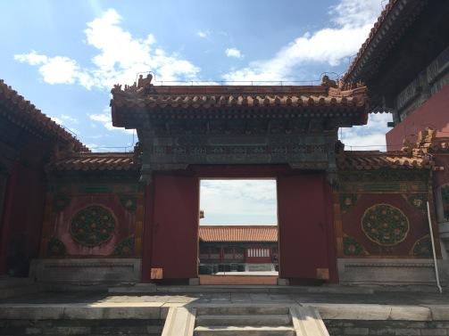 Une porte dans la Cité Interdite de Beijing