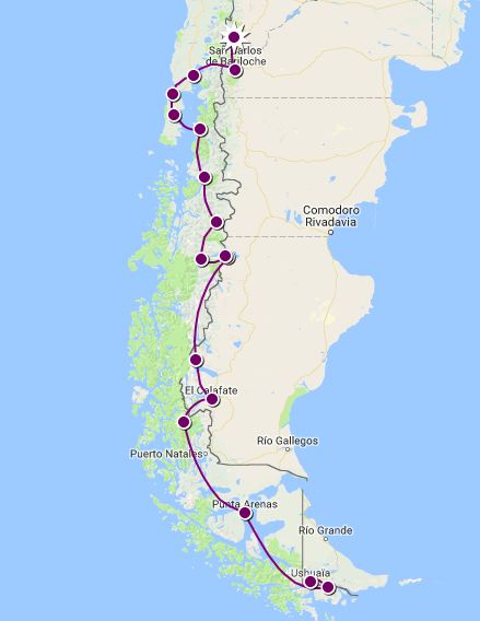 Patagonie - Itinéraire